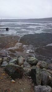 Da var det slutt på isfiske for denne gang nå er det bare ¨finne frem båter her